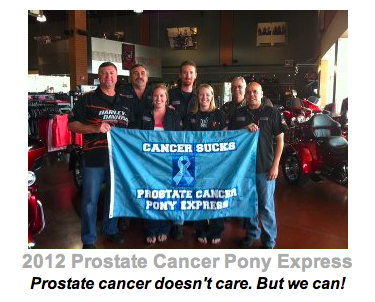 Prostate Cancer Pony Express Donation Page