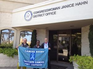 Congresswoman Janice Hahn, Michelle Chambers, Robert Warren Hess, Douglas Garrett